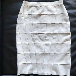 Herve Leger Nude bandage skirt